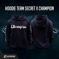 Hoodie Team Secret x Champion Black - Jumper Jaket Esports