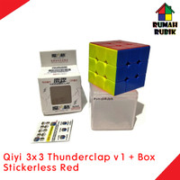 Rubik 3x3 Qiyi Thunderclap v1 Stickerless Red + BOX / Speed Cube