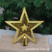 15CM bintang top star dekorasi ornamen pohon natal aksesoris gantungan