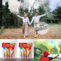 Smoke Bomb 5 warna / Bom Asap / Asap Warna / Pipa Asap per pak isi 5
