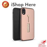 Casing Slofie Ring Standing Shockproof Hard Case iPhone X XR XS Max