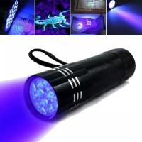 Lampu Senter 9 LED Ultra Violet