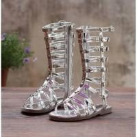 Sandal Anak Perempuan / Gladiator Sandal / Gladiator Slipper Silver