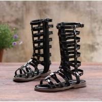 Sandal Anak Perempuan/ Gladiator sandal Black / Gladiator Slippers Bla
