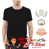 KaosYES Kaos Polos T-Shirt O-NECK LENGAN PENDEK - Hitam, S
