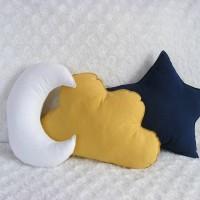 bantal bintang awan bulan paket 3pcs navy