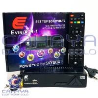 Receiver Evinix Antena UHF DVBT2 Set top box AV HDMI Digital