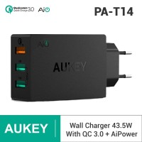Aukey PA-T14 PowerAll Charger 3 Port USB Quick Charge 3.0 - Hitam