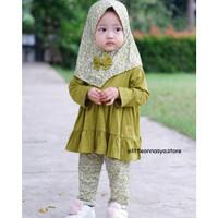 Baju Gamis Anak Perempuan Nayla 1-6thn / Tunik Anak / Baju Muslim Anak
