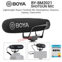 MIC BOYA BM2021 Super Cardioid Shotgun for Hp laptop dan kamera DSLR