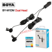 BOYA BY-M1DM Dual Clip-On Microphone for DSLR Camera Smartphone