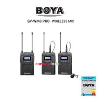 Microphone BOYA BY WM8 UHF Dual-Channel wireless mic DSLR Handycam