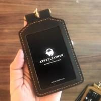 Leather ID Card Holder - Badge Holder - id card kulit custom logo
