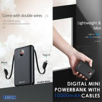 Ultimate Power Mini Digital Powerbank 10000mAh Cable MW10 Power Wing
