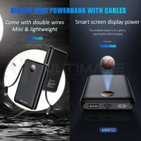 Ultimate Power Mini Digital Powerbank 10000mAh Cable MW10 Wing RESMI
