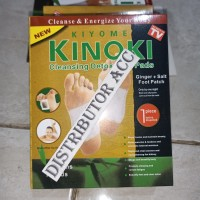 KINOKI GOLD 1 Box isi10 sachet Jahe Ginger Salt Koyo Kaki Detox Herbal