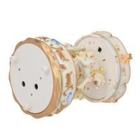 AC Mini Carousel Clockwork Music Box Colorful LED Merry-go-round