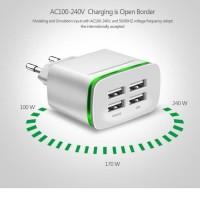 USB Charger Adaptor 4 Port - Kepala Charger - Casan - Original
