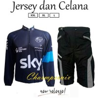 Jersey Sepeda Xc Plus Celana Padding Sepeda - Hitam, Xxl