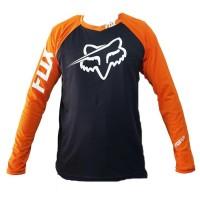 Premium Jersey Downhill Cross Sepeda Dh Fox Baju Kaos F006