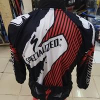 Baju Sepeda Merah Hitam Putih