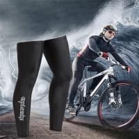 Manset Kaki Leg Warmer Sepeda Lari - Hitam, S