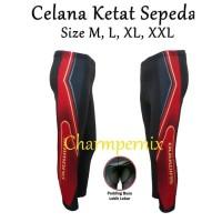 Celana Sepeda Ketat Padding Busa Harga Promo - Merah, Xl