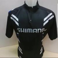 Kaos/Jersey Sepeda Hitam Pendek Fit To L