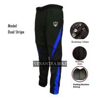 Cpx Celana Panjang Sepeda Padding - Cycling Pants - Dua Strip Biru, M