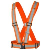 Rompi V Karet Safety Vest Rubber Reflective Elastic Scot Guard Strap -