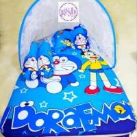 Kasur Bayi / Kasur Lipat Kelambu / Tempat Tidur Bayi Doraemon
