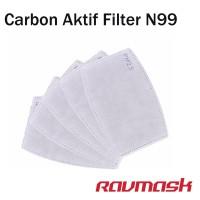 Isi ulang Filter carbon active untuk Masker Debu anti polusi N99