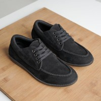 Sepatu Formal Kulit Hitam Pria Casual Cowok ORI - BESIC LOUISE BLACK