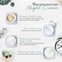 NIGHT CREAM MS GLOW ORIGINAL / CREAM MALAM (BRIGHTENING/ACNE/ULTIMATE)