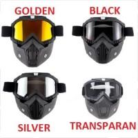 Google Mask Helm Masker Kaca Mata Motor Goggles Trail Cross - Transparan