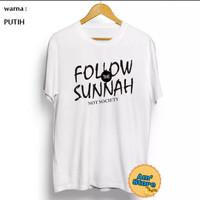 Kaos Dakwah Follow The Sunnah Original bahan Berkualitas | Kaos Santri