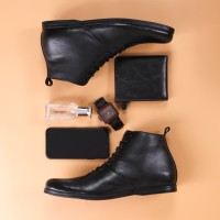 Sepatu boot casual kulit asli Sepatu boot brodo Model Romano