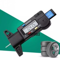 Digital tyre tire depth gauge gage pengukur ketebalan Ban murah +batre