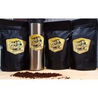 100% black kopi / coffee / cofe / hitam bubuk robusta asli palembang
