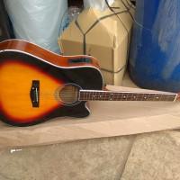 Gitar akustik elektrik jumbo natt