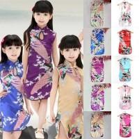 BOBORA Dress Cheongsam Girls Kids Baby Princess Chinese