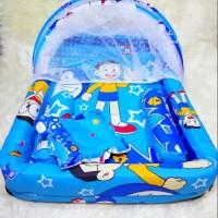 Kasur Bayi / Kasur Kolam Kelambu / Tempat Tidur Bayi Doraemon Termurah