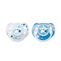 . Philips Avent Soother Night Time Blue 6-18M (Isi 2) / Empeng Bayi