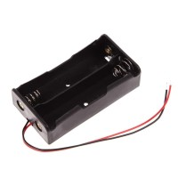 2x 18650 Battery Holder Baterai Case Batere Box Kotak Batre Dengan Kab