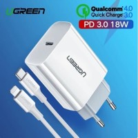 Ugreen Combo PD Charger + Cable Type C Lightning MFI PD 3.0 36 WATT