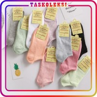 TK R108 Kaos Kaki Motif Polos Korea Ankle Cute Short Socks Murah