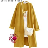 cardigan wanita panjang long muslimah outer kimono cardy cardi