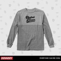 KAOS LENGAN PANJANG Longsleeve Streetwear Baseball Baju Pria 012