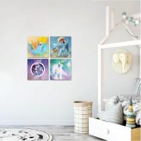 Hiasan Dinding Kamar Anak+Perempuan+Little Pony 20x20cm
