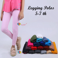 Legging Polos 5-7 Tahun / Celana Anak Panjang Perempuan Leging Kaos